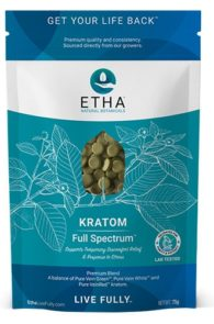 Etha Natural Botanicals Full Spectrum Kratom sunset