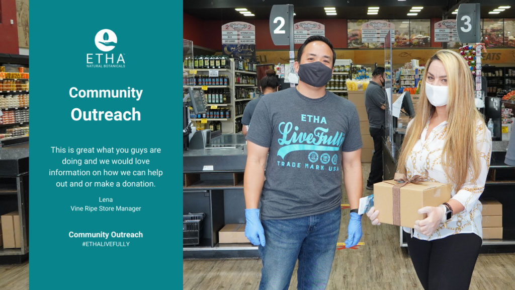 etha kratom care packages essential workers charity