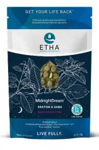 etha midnight dream kratom gaba tablets