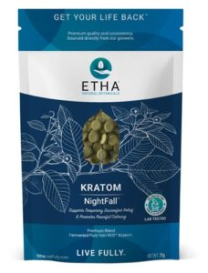 etha natural botanicals nightfall kratom sleep rest relaxation tablets